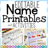 Name Writing EDITABLE Printables and Activities