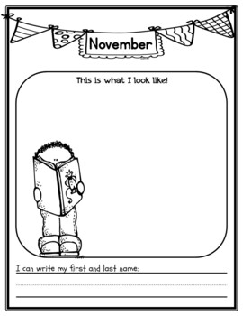 Name Writing & Self-Portrait Documentation through the year {K or 1st}