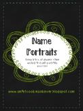 Name Writing Self Portraits