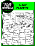 Name Writing and Recognizing Practice {Texas Twist Scribbles}