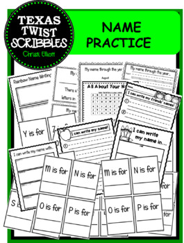 Name Writing and Recognizing Practice...ideal for beginnin