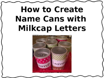 Name activity - Name Circles and Can Activity - Editable