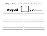 Name and Date Writing Practice