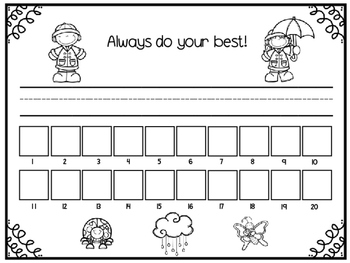Name and Number Practice Sheets for April