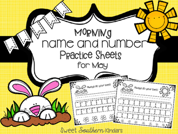 Name and Number Practice Sheets for May