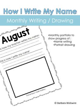 Name and Portrait Monthly Portfolio