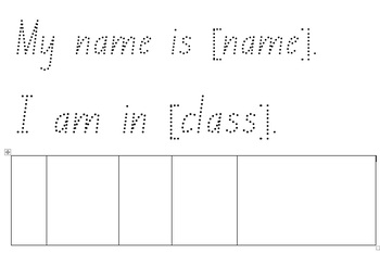 Name and class worksheet