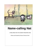 Name-calling Nat Children's Book with color pages