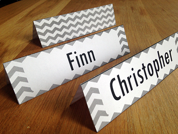 Editable name cards - chevron