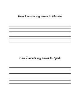 Name handwriting progress tracker