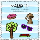 Name it (Basic object expressive and receptive language activity)