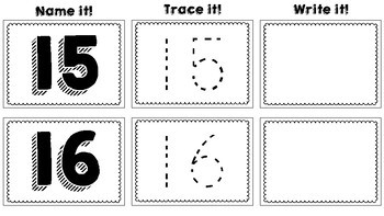 Name it, Trace it, Write it: Numbers 1-20