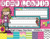 Name labels {Bright & Happy}