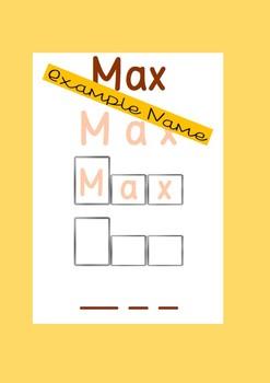 Name mats - 5 custom made mats