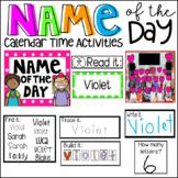 Name of the Day Calendar Companion (Preschool and Kindergarten)