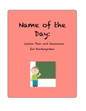 Name of the Day Kindergarten Lesson Plan