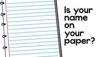 Name on Paper Reminder