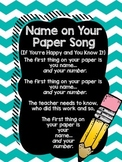 Name on Your Paper Song FREEBIE