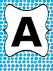 Name or Word Banner Blue Polka Dots