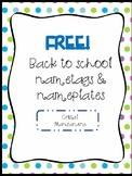 Name plate printable **FREE**