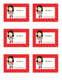Nameplates - Superman & Wonder Woman