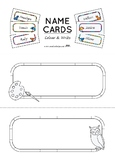 Name plates / Desk name tags — 14 non-gender specific designs