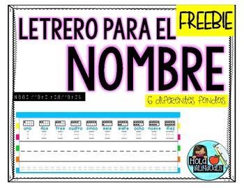 Name plates- SPANISH FREEBIE