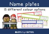 Name plates for student desks - Victorian Modern Cursive