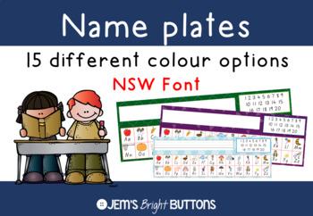 Name plates for student desks - NSW Foundation Font