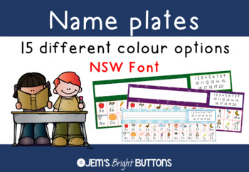 Name plates for student desks - NSW Foundation Font
