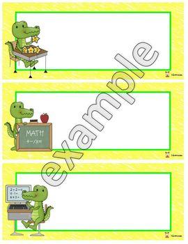 Name tag alligator school