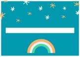 Name tag, rainbow