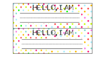 Desk Top Name Tags