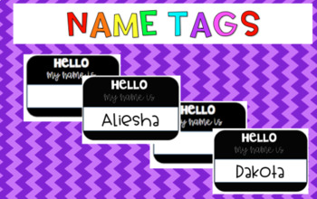 Name tags {Editable}