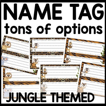 Name tags Jungle Themed