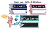 Name Plates - Best Friends - Pig & Elephant