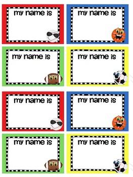 Name tags ~ Sports theme