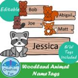 Name tags: Woodland Animals