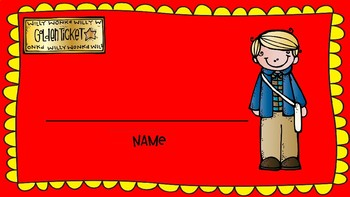 Name tags inspired by Willy Wonka