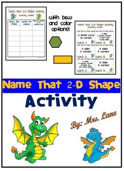 Name that 2-D Shape Activity