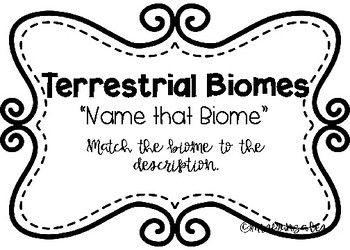 Biome Review Test Prep Task Cards