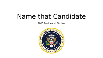 Name that Candidate