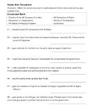 Name that Document (Fundamental Documents): VA Civics & Ec