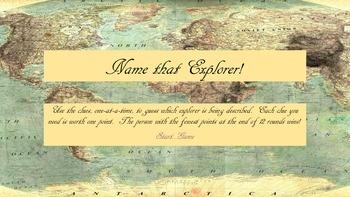 Name that Explorer!  Review Game
