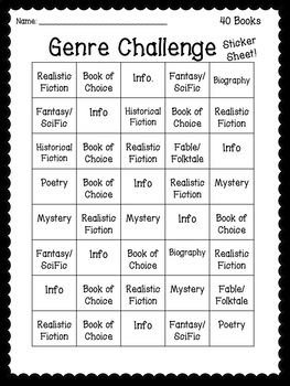 Name that Genre! A Reading Challenge.