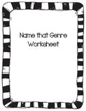 Name that Genre Worksheet