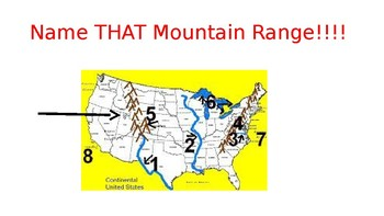 Name that Mountain PPT game 3rd grade GSE