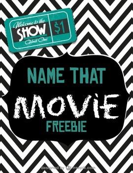 Name that Movie FREEBIE