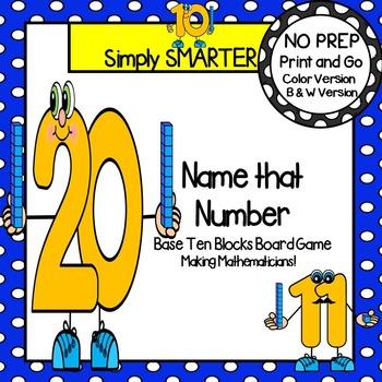 Name that Number:  NO PREP Base Ten Blocks Board Game
