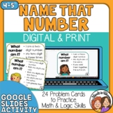 Number Sense Task Cards | Number Sense Math with Digital Option